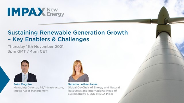 Sustaining Renewable Generation Growth – Key Enablers & Challenges