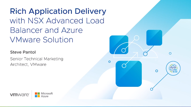 Rich Application Delivery w/ NSX Advanced Load Balancer & Azure VMware Solution