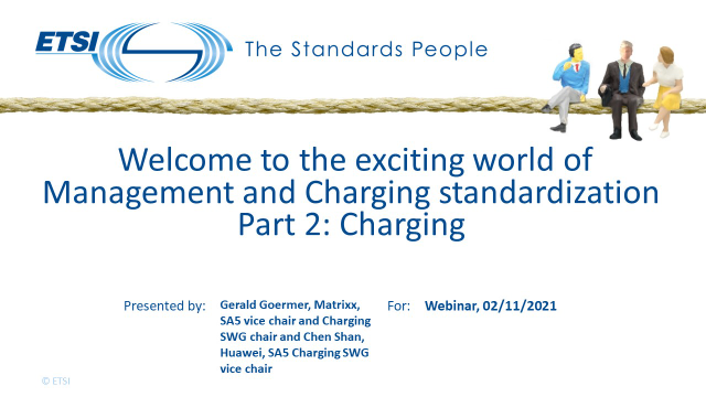 Welcome to the exciting world of Management and Charging standardization, Part 2