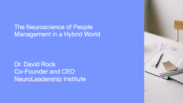 The Neuroscience of People Management in a Hybrid World