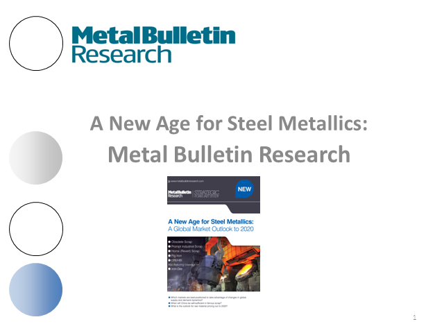 Forecasting steel metallic prices out to 2020