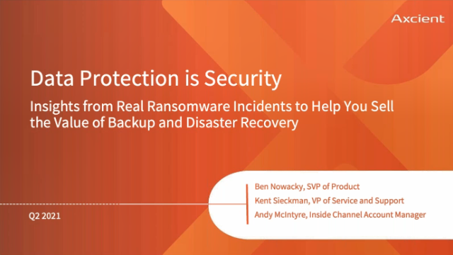 Data Protection is Security - Protect Yourself from Ransomware