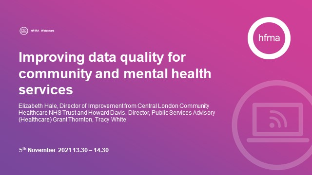 Improving data quality for community and mental health services