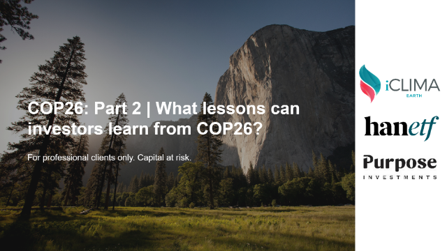 COP26: Part 2 | What lessons can investors learn from COP26?