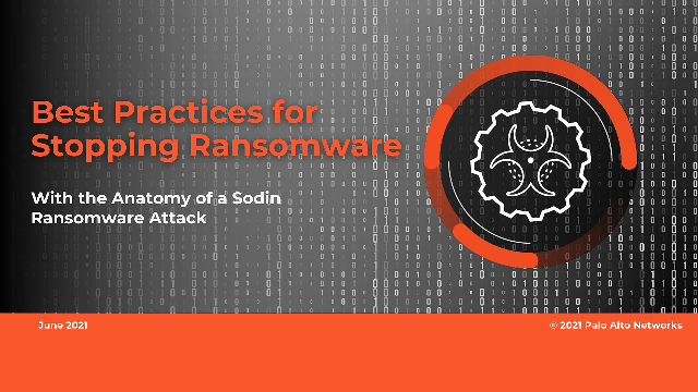 Best Practices for stopping Ransomware