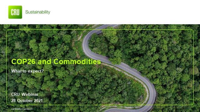 COP26 and commodities: What to expect?