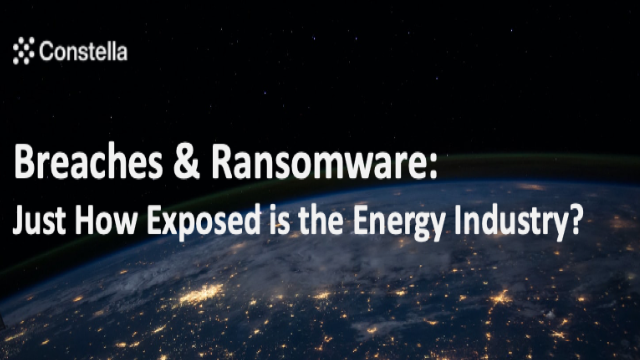 Breaches & Ransomware - How Exposed is the Energy Industry?