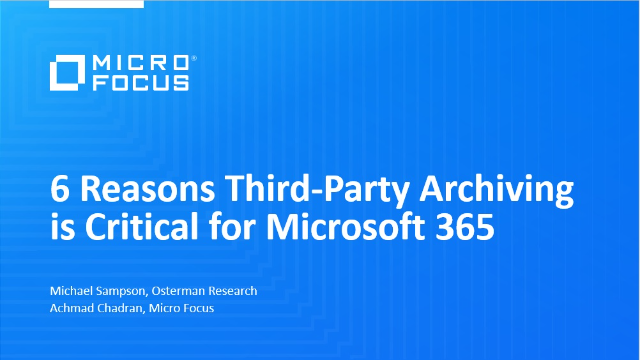 6 Reasons Third-Party Archiving is Critical for Microsoft 365