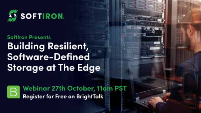 Building Resilient, Software-Defined Storage  Infrastructure at The Edge
