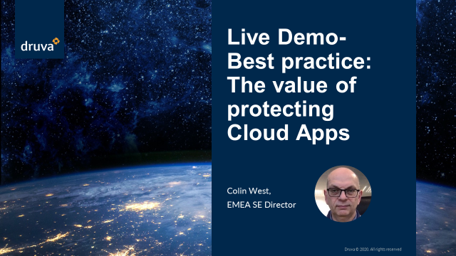 Live Demo- Best practice: The value of protecting Cloud Apps