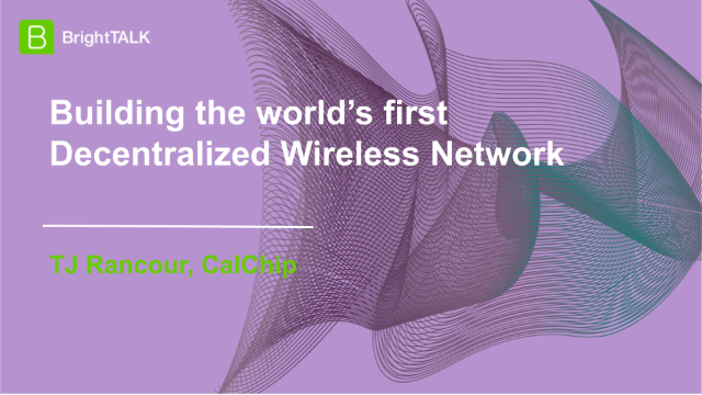 Building the world's first Decentralized Wireless Network
