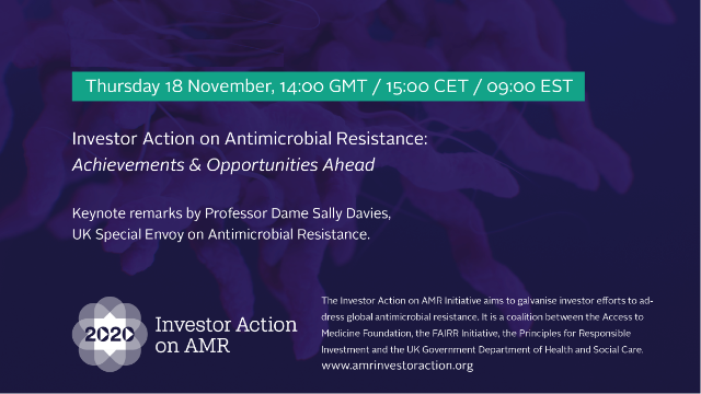 Investor action on antimicrobial resistance: achievements & opportunities ahead