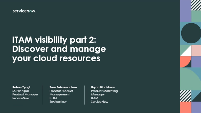 ITAM Visibility Series Part 2: Discover and manage SaaS and cloud resources