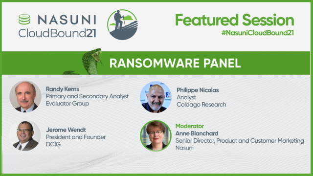 Ransomware Panel: The Role of the Cloud in Ransomware Recovery
