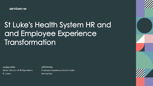 St. Luke's Health System HR and Employee Experience Transformation
