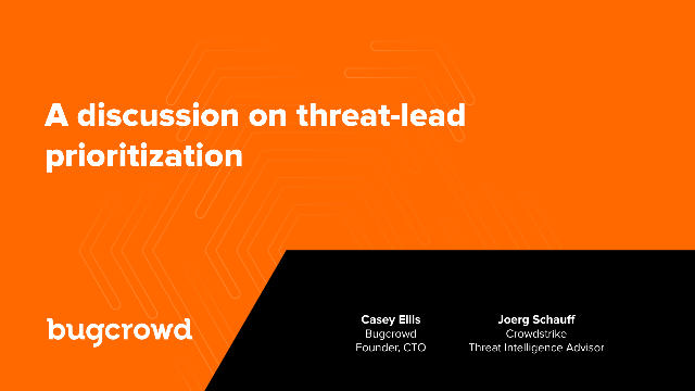 A discussion on threat-lead prioritization