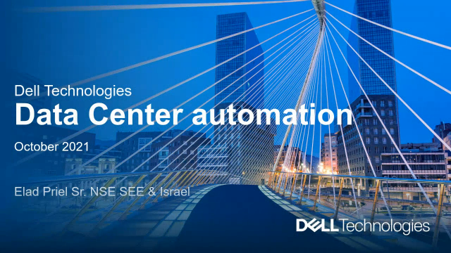Data Center Automation with Dell Technologies Networking