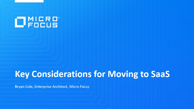 Key Considerations for Moving to SaaS
