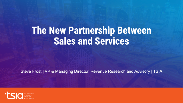 The New Partnership Between Sales and Services