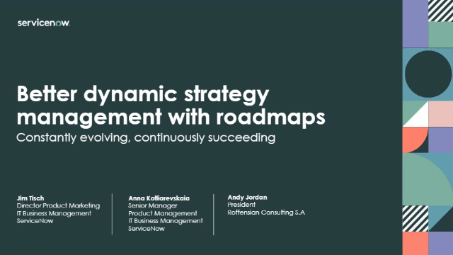 Better dynamic strategy management with roadmaps