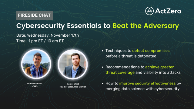 Cybersecurity Essentials to Beat the Adversary