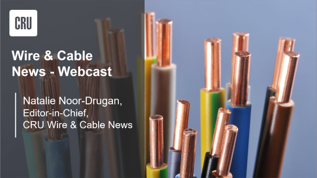 CRU Wire & Cable News September 2021 highlights