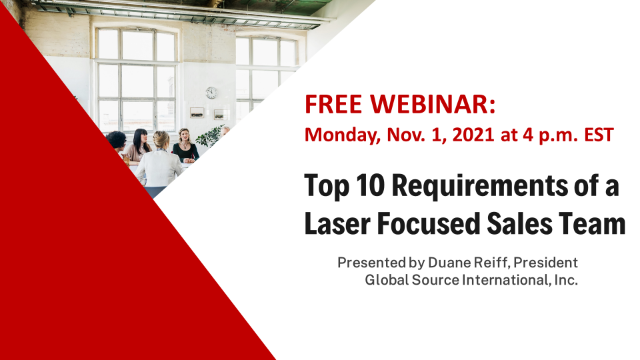 Top 10 Requirements of a Laser Focused Sales Team