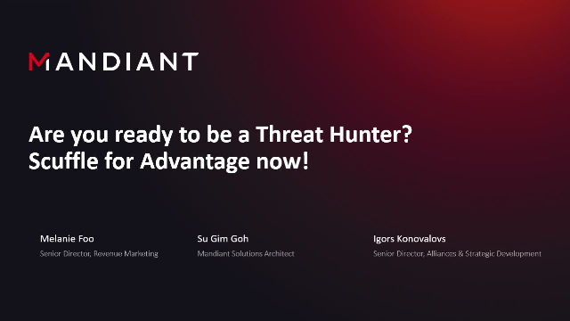 Are you ready to be a Threat Hunter? Get the Advantage now!