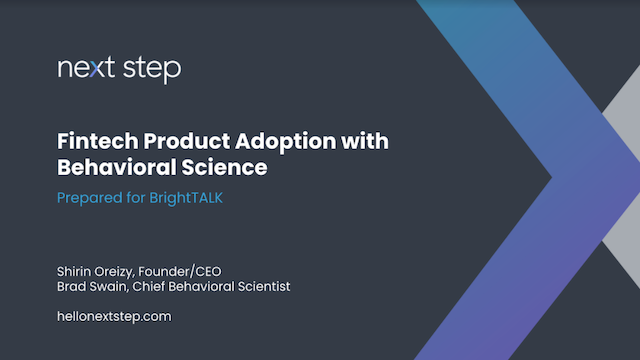 Fintech Product Adoption with Behavioral Science