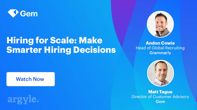 Hiring for Scale: Make Smarter Hiring Decisions with Recruiting Analytics