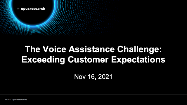 The Voice Assistance Challenge: Exceeding Customer Expectations