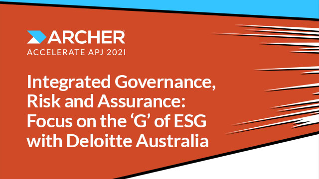 Integrated Governance, Risk and Assurance: Focus on the 'G' of ESG