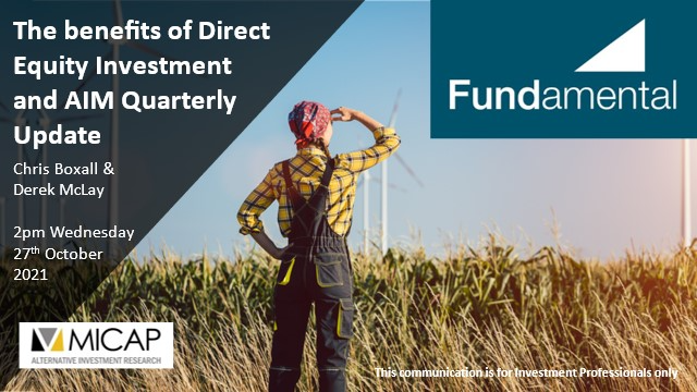 The benefits of Direct Equity Investment and AIM Quarterly Update