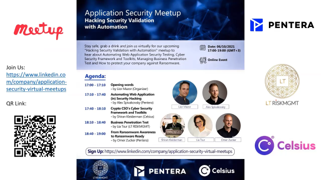 Application Security - Hacking Security Validation with Automation Meetup
