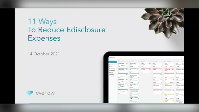 Everlaw + The Lawyer: 11 Ways to Reduce eDisclosure Expenses