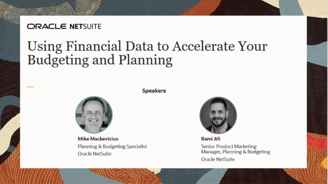 Using Financial Data to Accelerate Your Budgeting and Planning