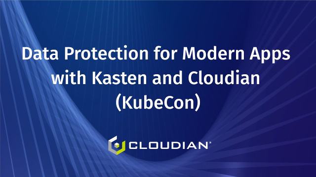 Data Protection for Modern Apps with Kasten and Cloudian