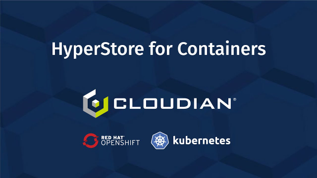 DEMO: How to run Cloudian S3 object storage on OpenShift as a container