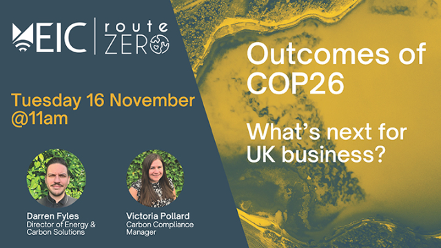 Outcomes of COP26: What's next for UK business?