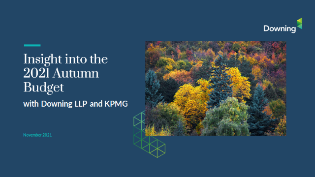Insight into the 2021 Autumn Budget with Downing LLP and KPMG