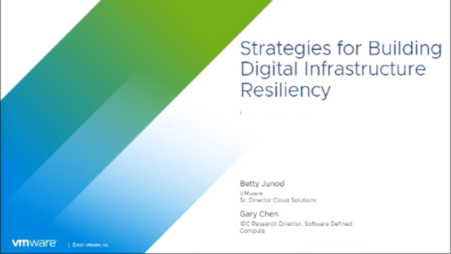 Strategies for Building Digital Infrastructure Resiliency
