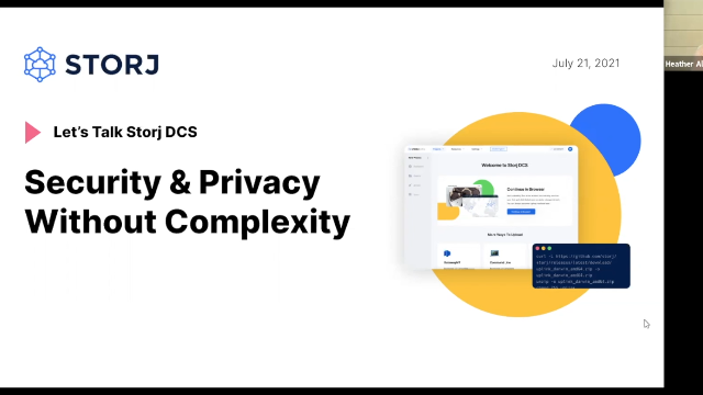 Let's Talk Storj DCS: Security & Privacy Without Complexity