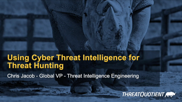 Using Cyber Threat Intelligence for Threat Hunting
