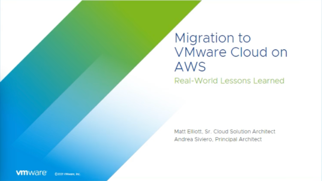 Migration to VMware Cloud on AWS: Real-World Lessons Learned