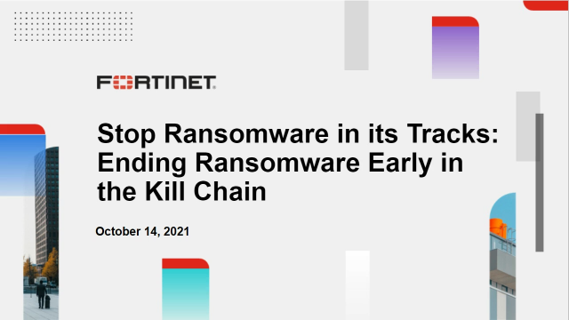 Stop Ransomware in its Tracks: Ending Ransomware Early in the Kill Chain