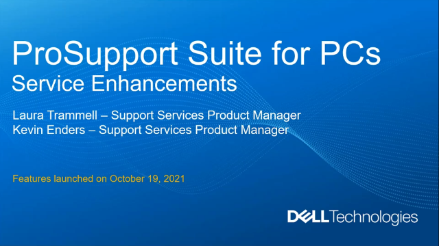 ProSupport Suite for PCs