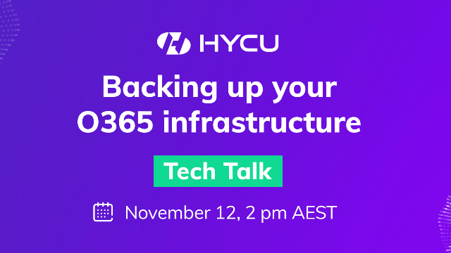 Tech Talk: Backing up your O365 infrastructure