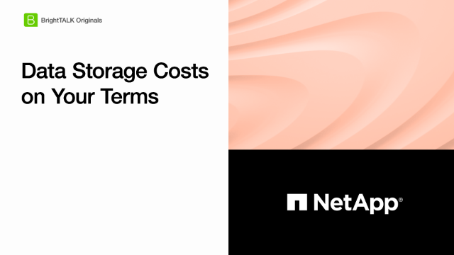 Data Storage Costs on Your Terms