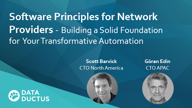 Software Development Principles for Network Providers