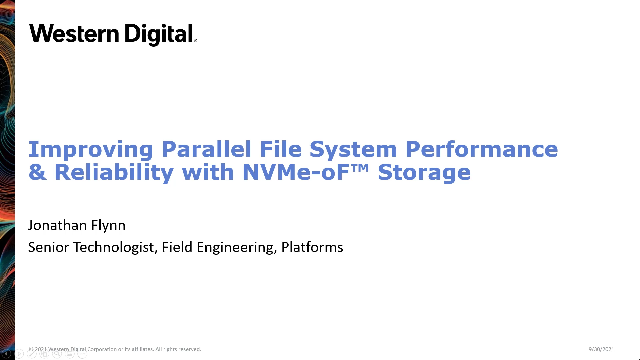 Improving Parallel File System Performance & Reliability with NVMe-oF™ Storage